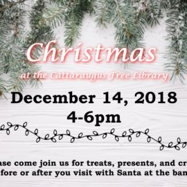 Christmas at the Library December 14, 2018 4-6pm