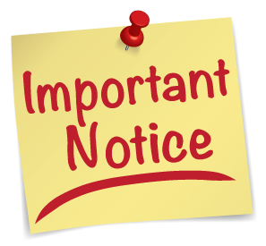 Important Notice to Patrons